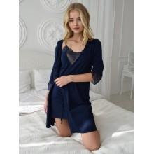 Комплект N.EL (сорочка, халат) 1126-92 blue