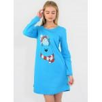 Сорочка ночная N.EL 741-33 blue