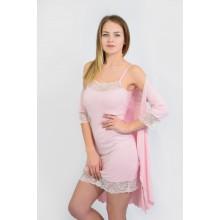 Комплект N.EL (сорочка, халат) 832-92-1 pink