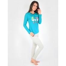 Пижама N.EL 964-33 turquoise-grey