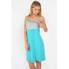 Сорочка для кормления N.EL 986-12 turquoise